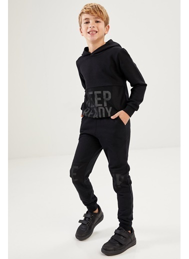 DeFacto Erkek Çocuk  Baskılı  Sweatshirt Siyah
